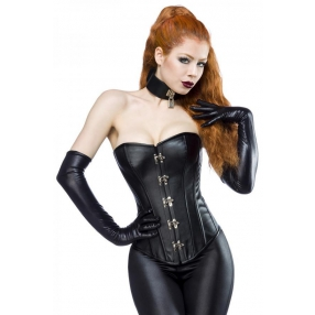 Zwart corset in leerlook
