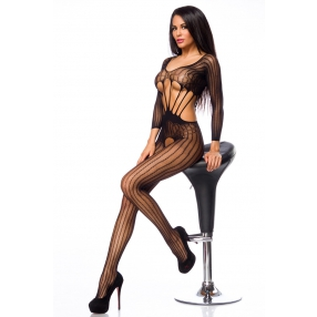 Bodystocking zwart kant