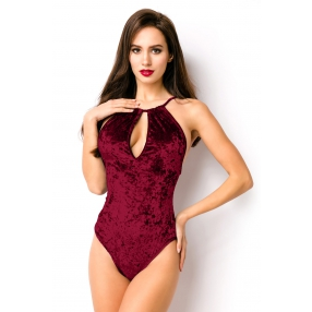 Bordeaux rood fluwelen body